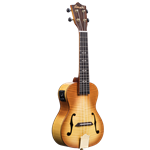 Amahi Tiger Maple Top, Back & Sides Concert Ukulele w/EQ