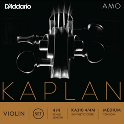 Set of D'Addario Kaplan Amo Violin Strings 4/4 Medium Tension
